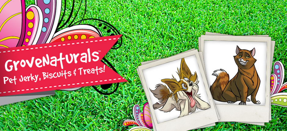 Grovenaturals pet treats for dogs and cats